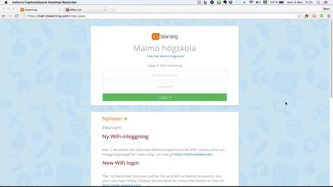 Thumbnail for entry Glömt lösenord? Logga in