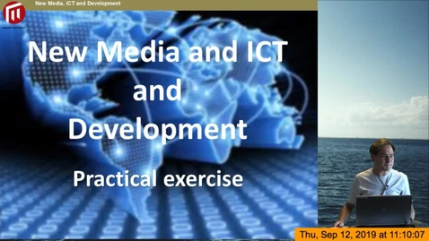 Thumbnail for entry Comdev - New Media ICT and Development HT19:  Introduction to the practical blog exercise - Mikael Rundberg