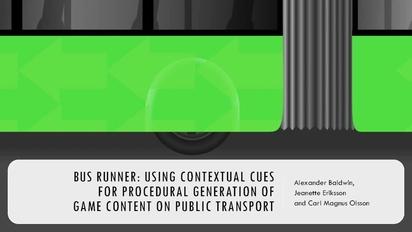 Bus Runner: Using Contextual Cues for Procedural Generation