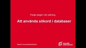 Thumbnail for entry Att använda sökord i databaser