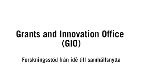 Miniatyr för inlägg Grants an Innovation Office (GIO)_SV