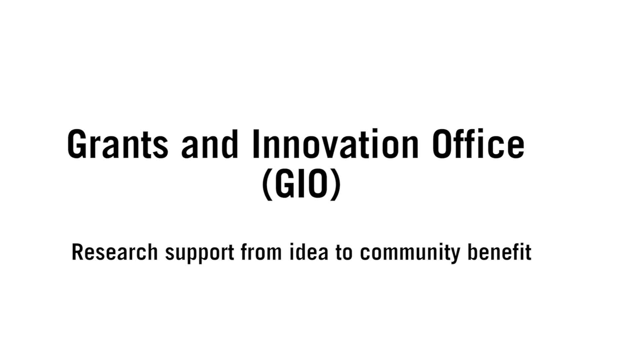 Grants an Innovation Office (GIO)_ENG