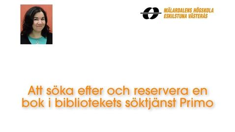 Miniatyr för inlägg Att söka efter och reservera en bok i bibliotekets söktjänst Primo