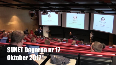 Thumbnail for entry SUNET dagar Hösten 2017 1300-1330