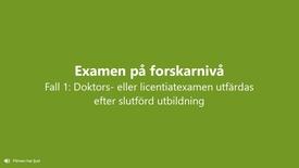Miniatyr för inlägg Doktors- eller licentiatexamen