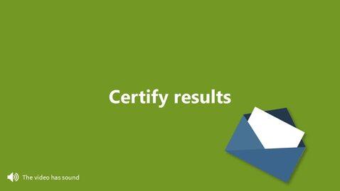 Miniatyr för inlägg Certify results