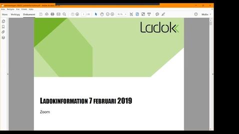 Miniatyr för inlägg Ladokinformation 2019-02-07
