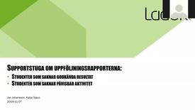 Miniatyr för inlägg Supportstuga: Uppföljningsrapporter för rapportering till UKÄ