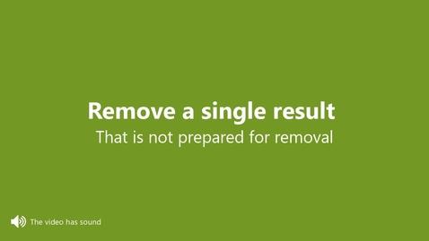 Miniatyr för inlägg Remove a certified result