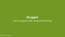 Miniatyr för inlägg Grupper inom program