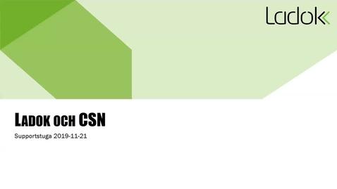 Supportstuga: CSN