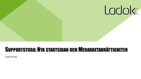 Miniatyr för inlägg Supportstuga: Nya startsidan och medarbetarrättigheter